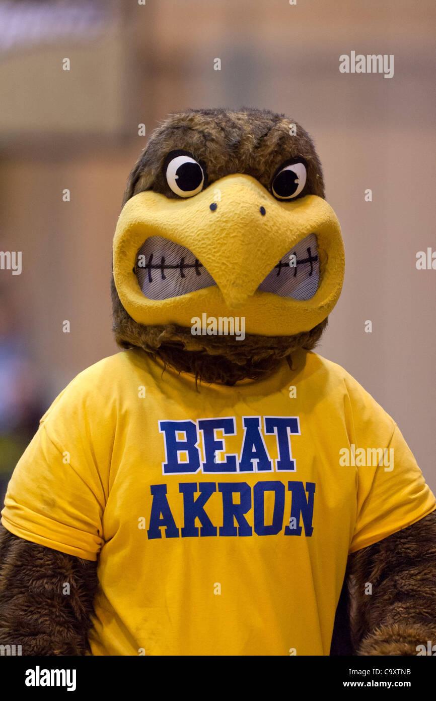 march 2 2012 kent ohio u s kent state mascot flash on the