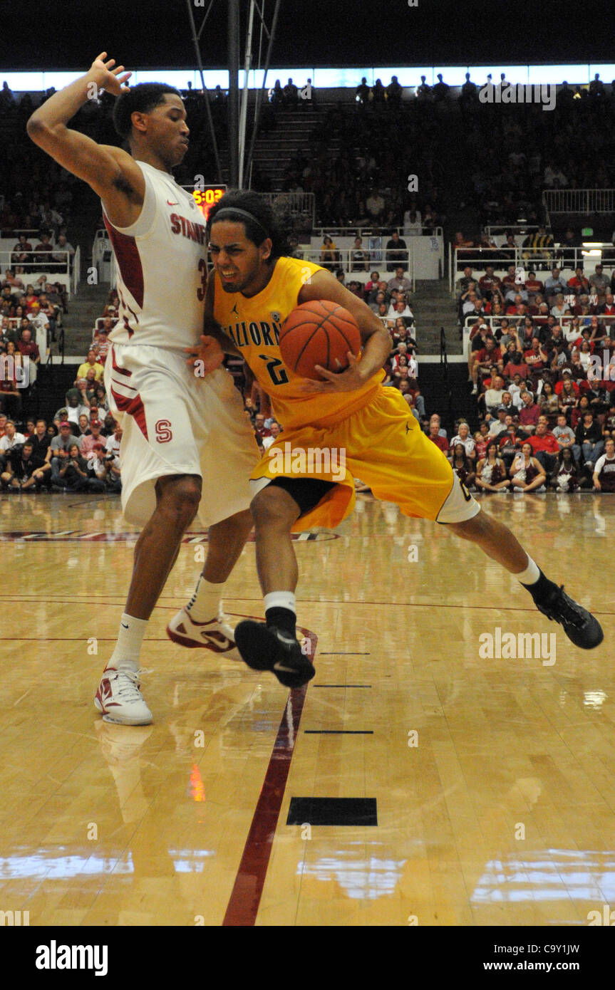 March 4, 2012 - Stanford, California, U.S. - California Golden Bears guard JORGE GUTIERREZ (2) during Sunday's - Stock Image