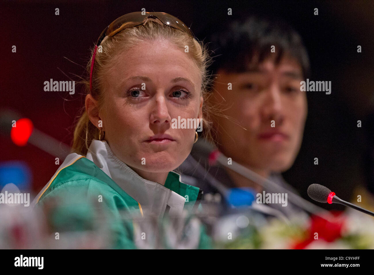 ISTANBUL, TURKEY: Thursday 8 March 2012, Sally Pearson of Australia (AUS), reigning world outdoor 100m hurdles champion - Stock Image