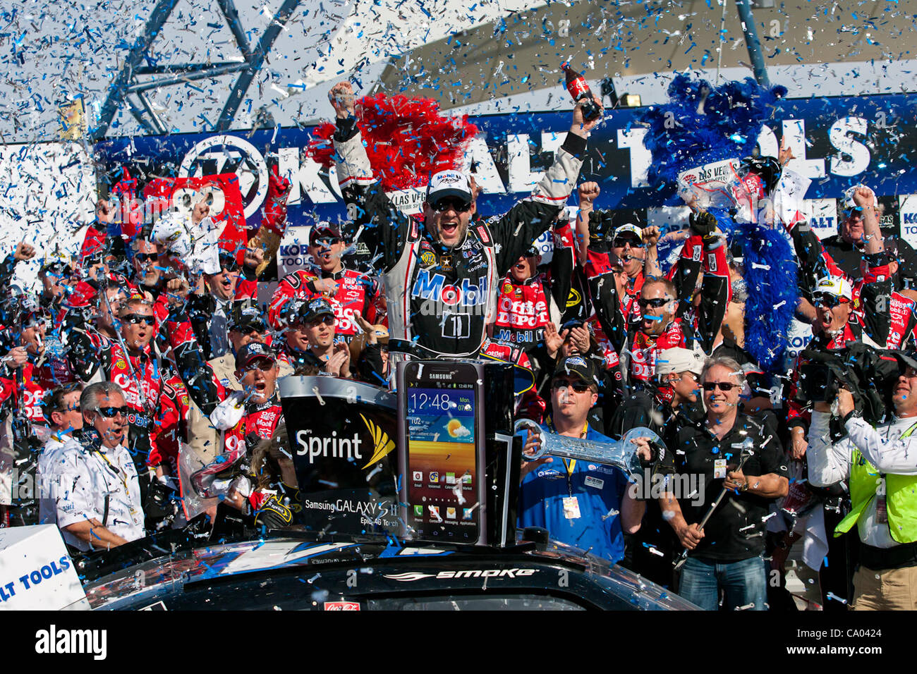 March 11, 2012 - Las Vegas, Nevada, U.S - TONY STEWART, driver of the (14) Mobil 1 / Office Depot Chevrolet Impala, Stock Photo