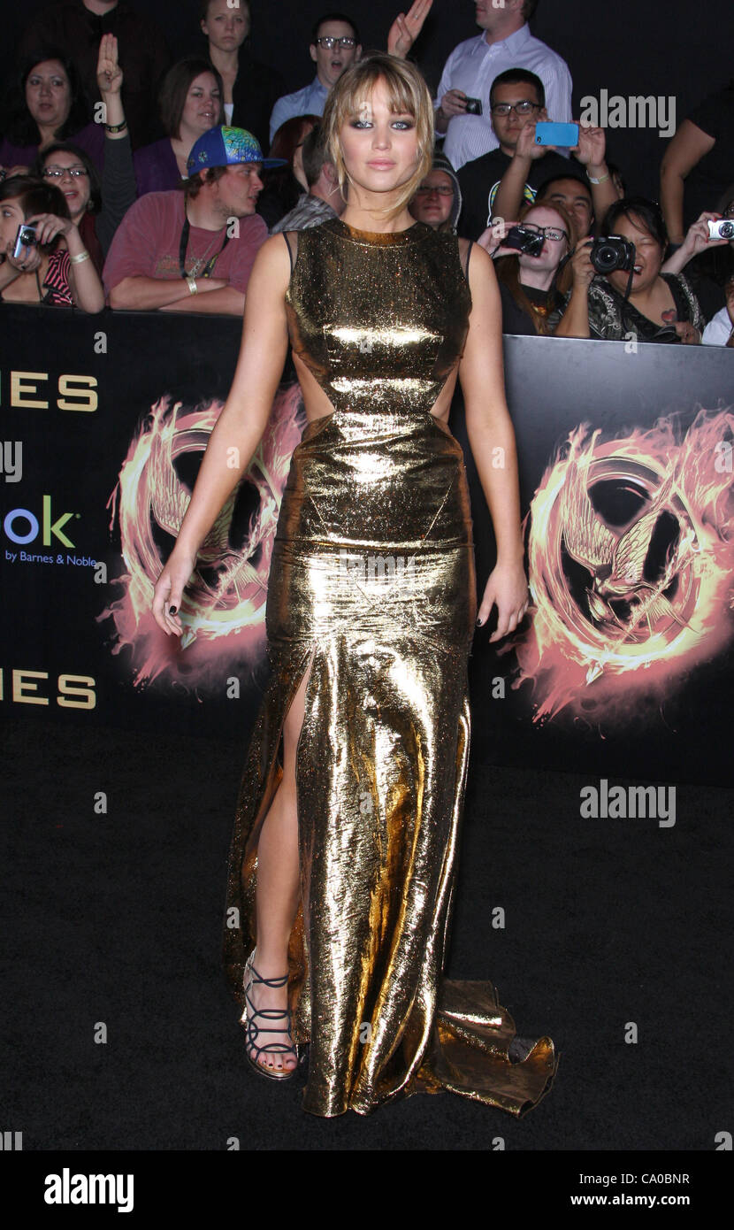 53879a712 JENNIFER LAWRENCE THE HUNGER GAMES. WORLD PREMIERE DOWNTOWN LOS ANGELES  CALIFORNIA USA 12 March 2012