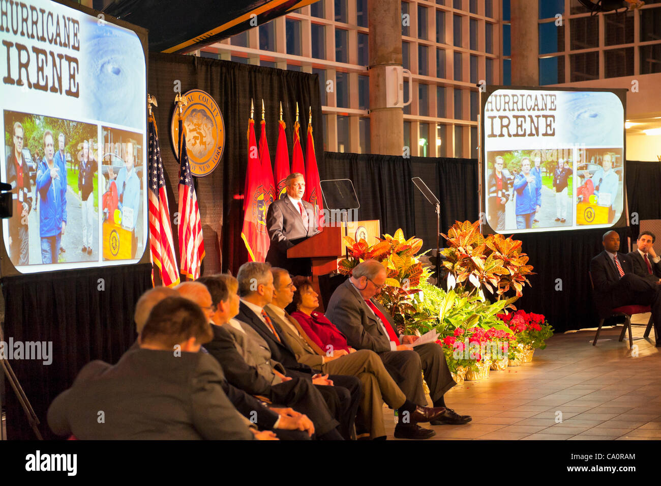 Nassau County Executive Edward Mangano gives State of the County Address, on Wednesday night, March 14, 2012, at Stock Photo
