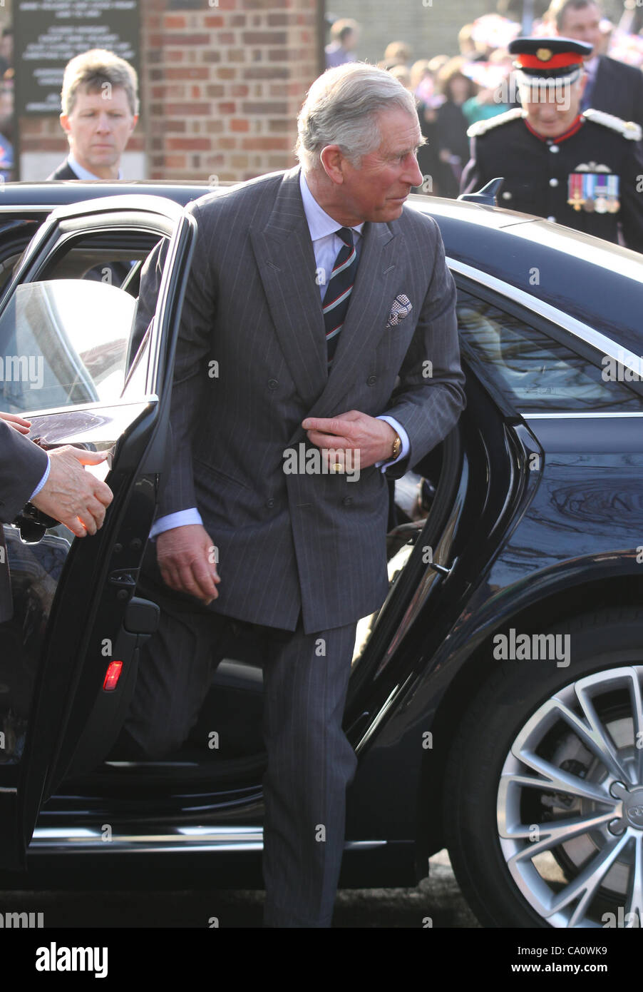 London, UK, 15/03/2012 : Prince Charles visits  'The Prince's Foundation For Children And The Arts' - Stock Image