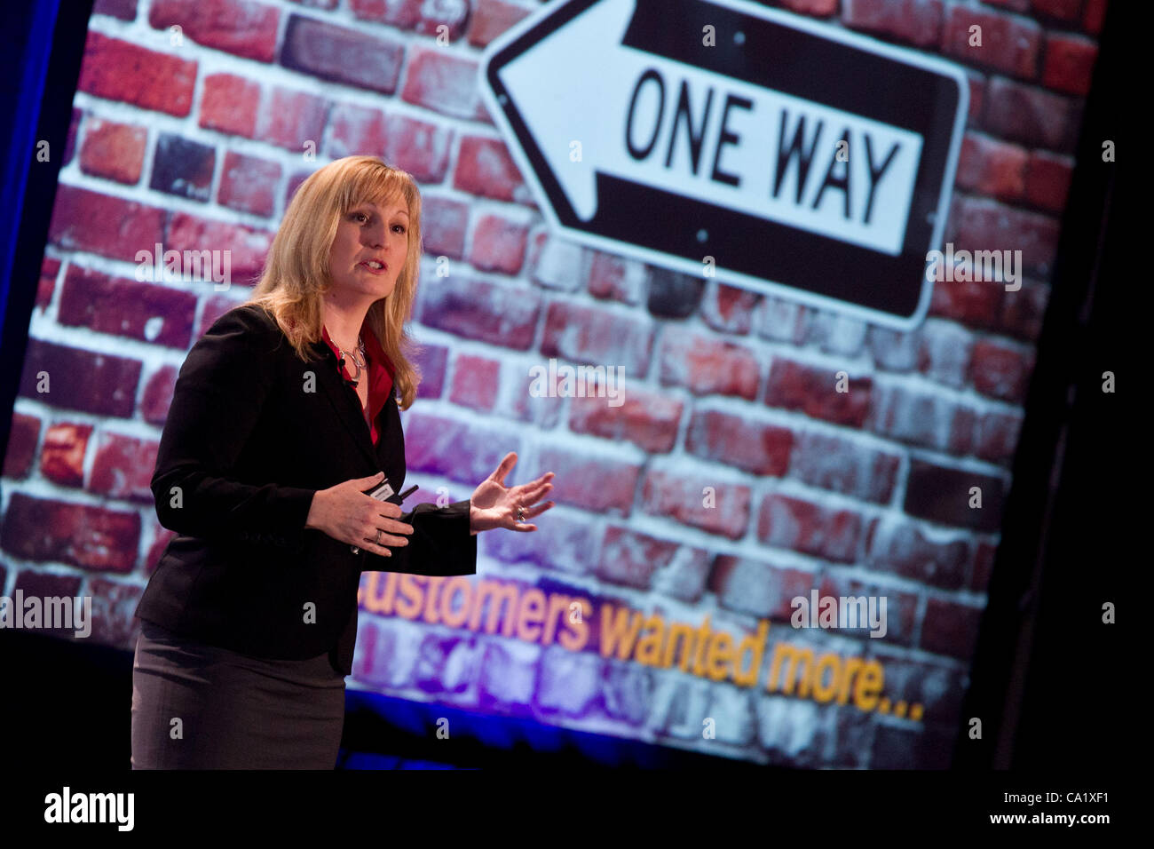 March 21, 2012 - Toronto, Canada - 'From Community to Kinship' presentation by Katrina Klier of Microsoft - Stock Image