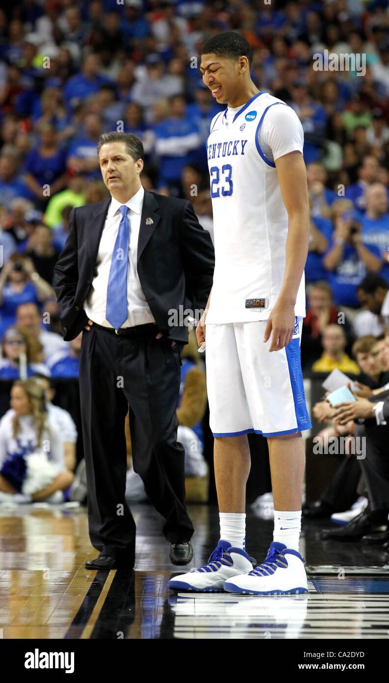 March 25, 2012 - Atlanta, GA, USA - Kentucky Wildcats