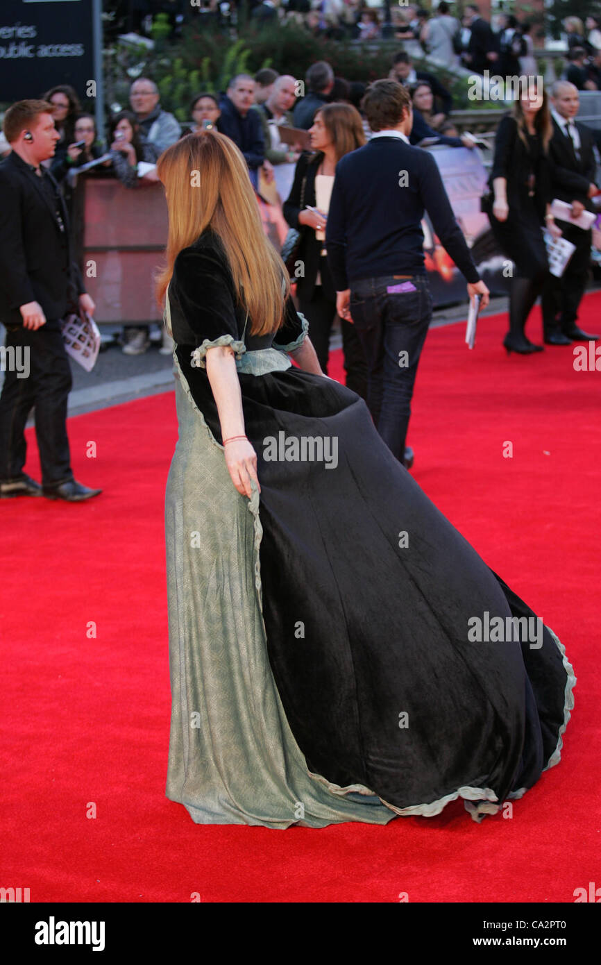 Francis Fisher attends the Titanic 3D - World Premiere at the Royal Albert Hall in London - Stock Image