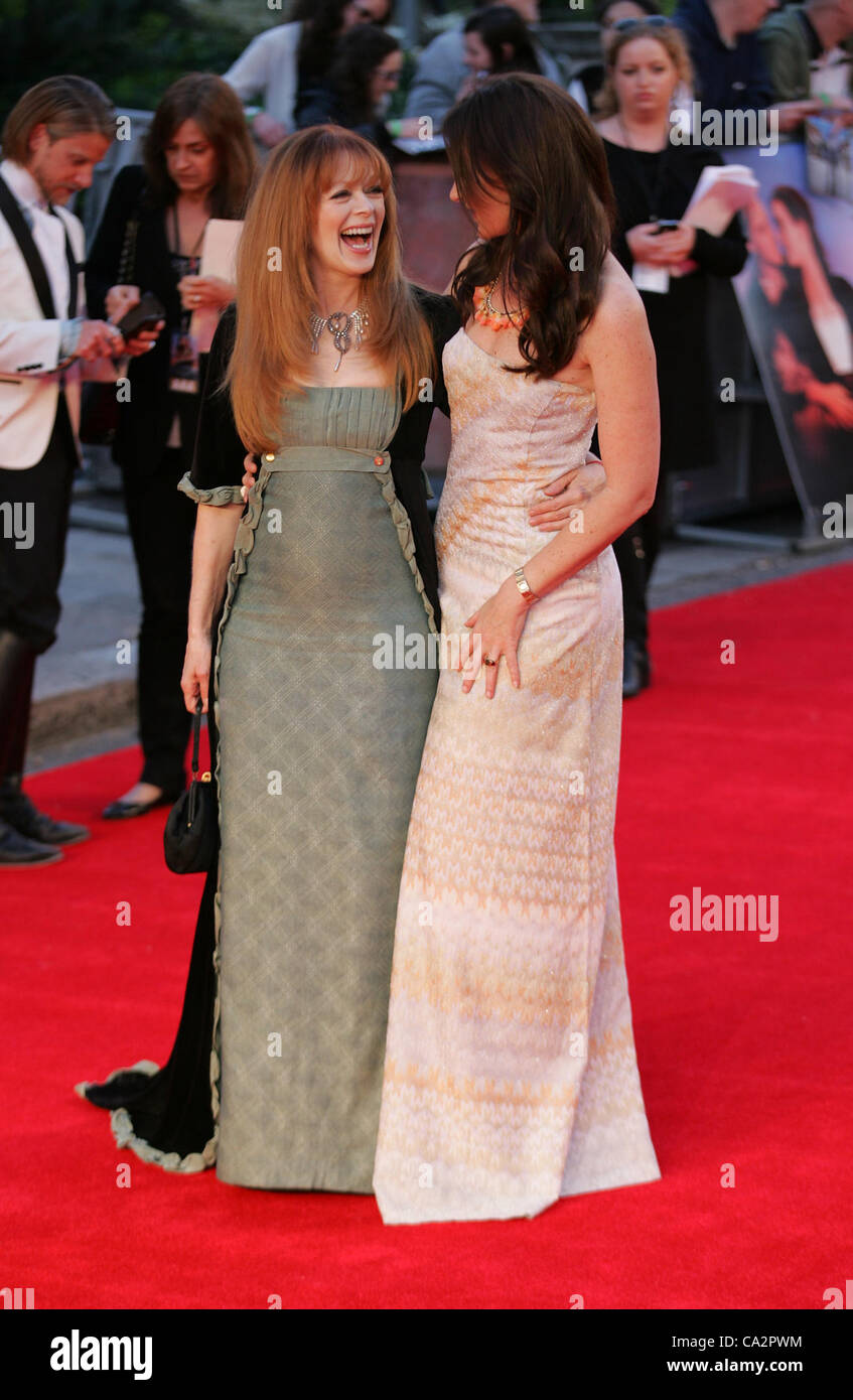 London, UK, 27/03/2012: Francis Fisher & Rochelle Rose attend the Titanic 3D - World Premiere at the Royal Albert - Stock Image