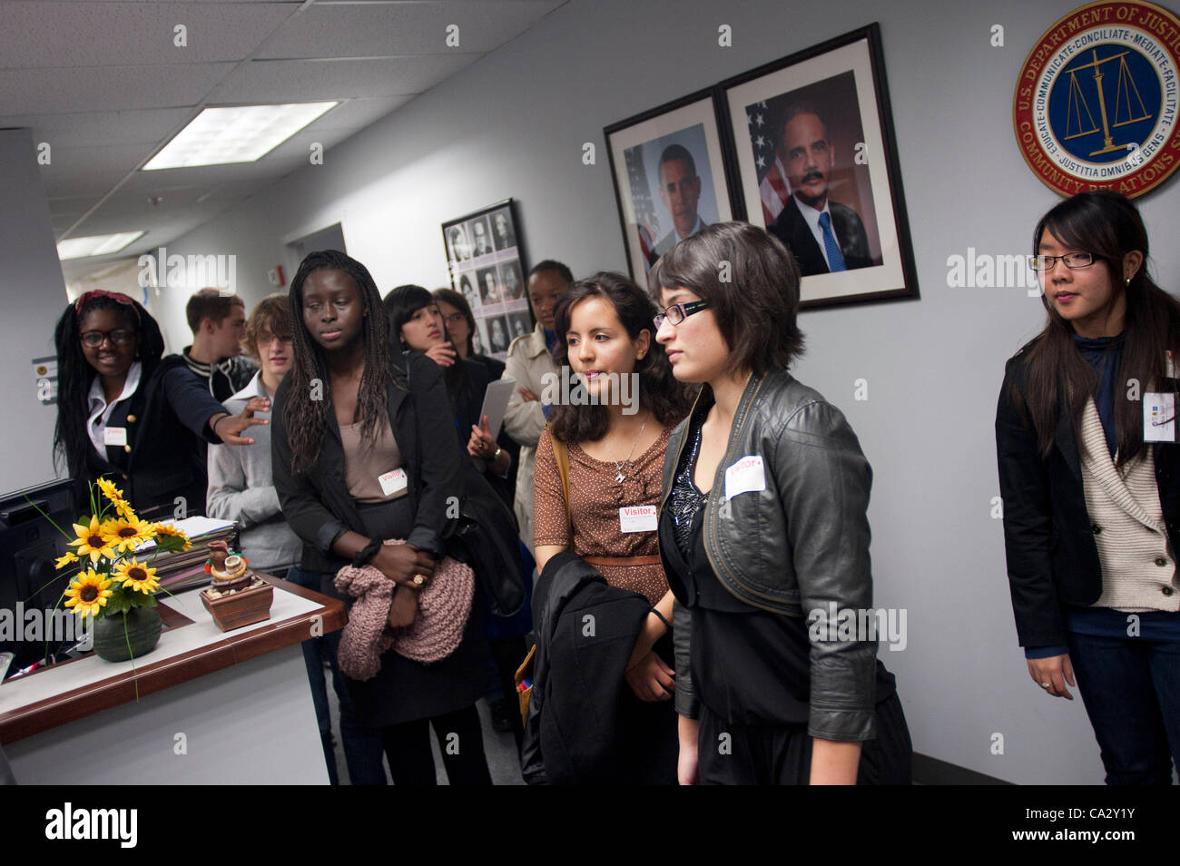 221cb3a6b French Youth Ambassadors visit the Department of Justice and the U.S.  Capitol as well as have