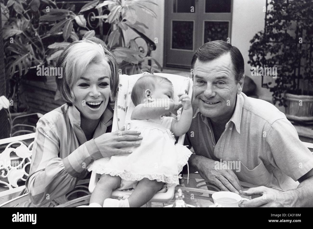 gig young with wife elaine williams and daughter jennifer stock