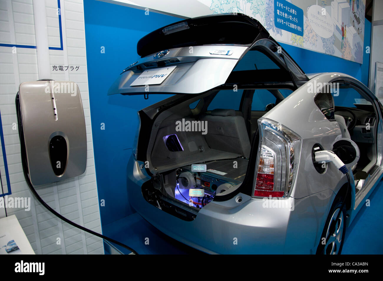 May 131, 2012, Tokyo, Japan - A electric car charging. The Smart ...