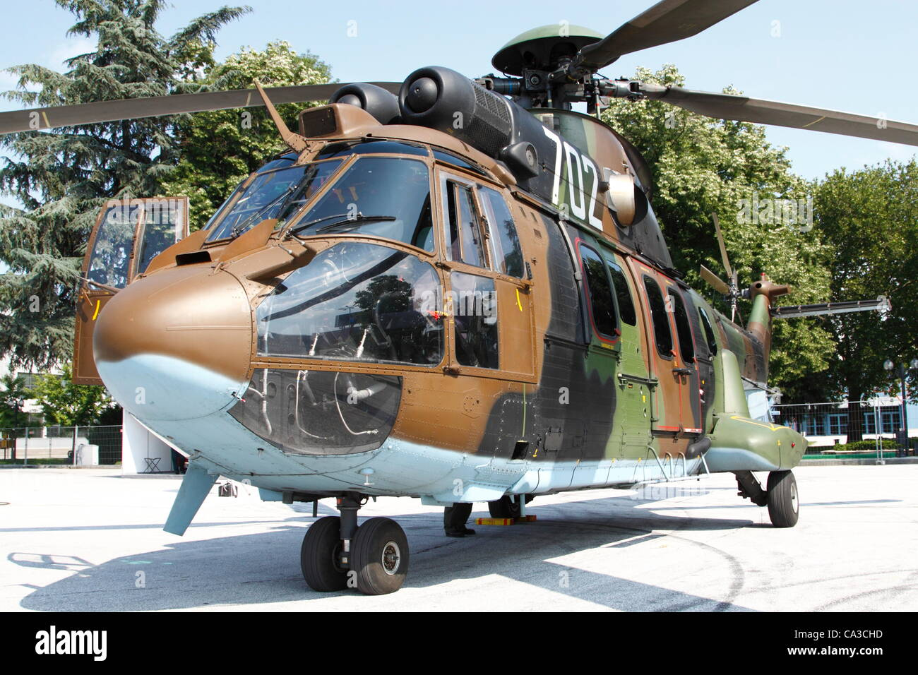 A brand new Eurocopter Cougar, used as medium utility helicopter in the Bulgarian Air Force. Bulgaria operates 12 - Stock Image