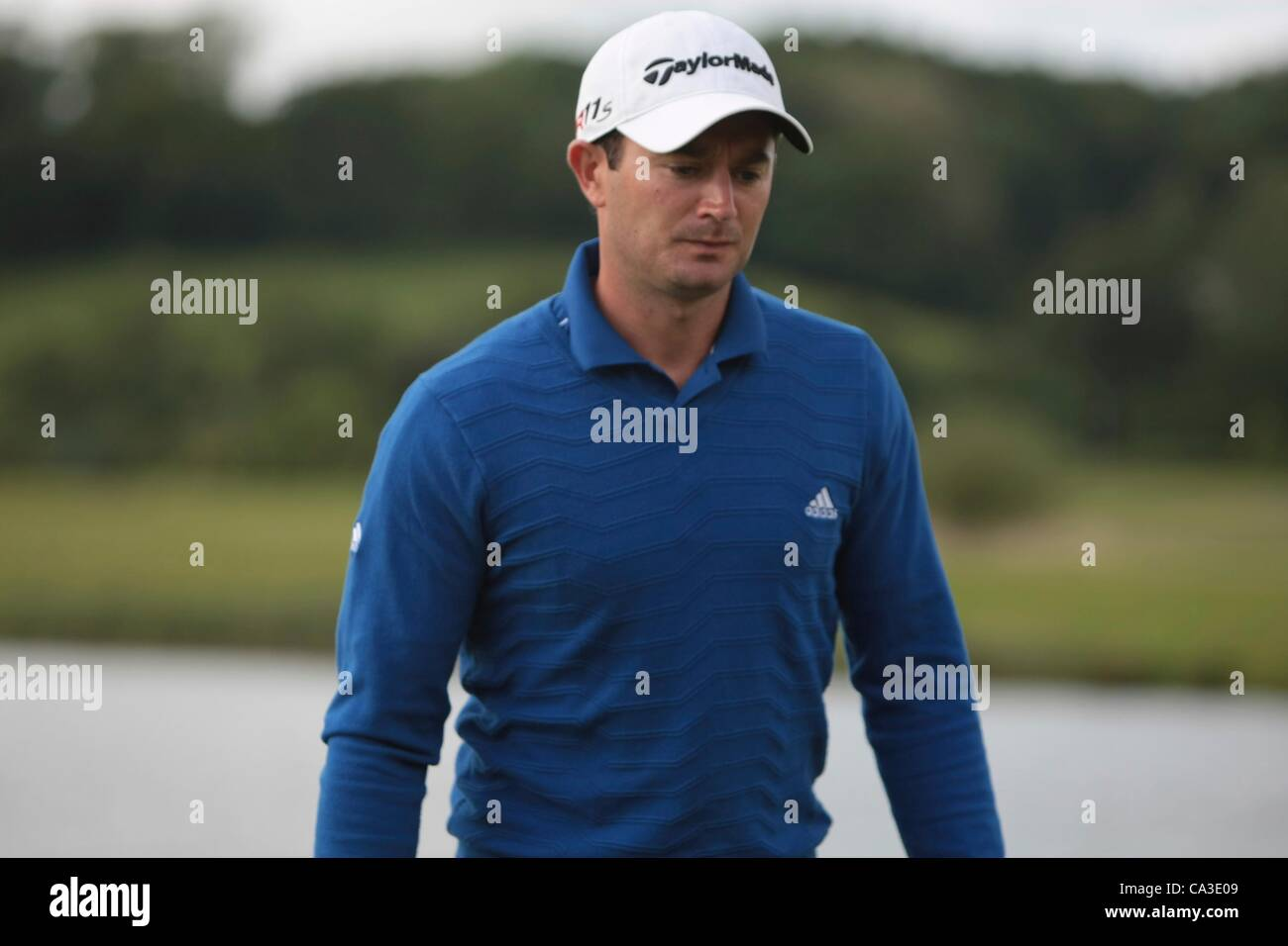 31.05.2012 Newport Wales. Gareth Maybin (NIR) in action on Day 1 of the ISPS Handa Wales Open from Celtic Manor. - Stock Image