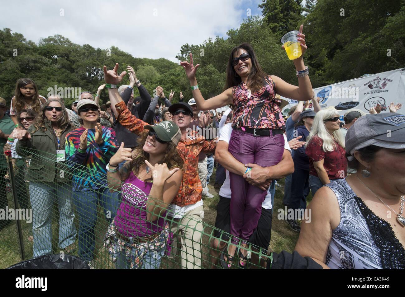 May 26, 2012 - Aptos, CA, USA - Fans at the 20th annual Santa Cruz Blues Festival. (Credit Image: © Jerome - Stock Image