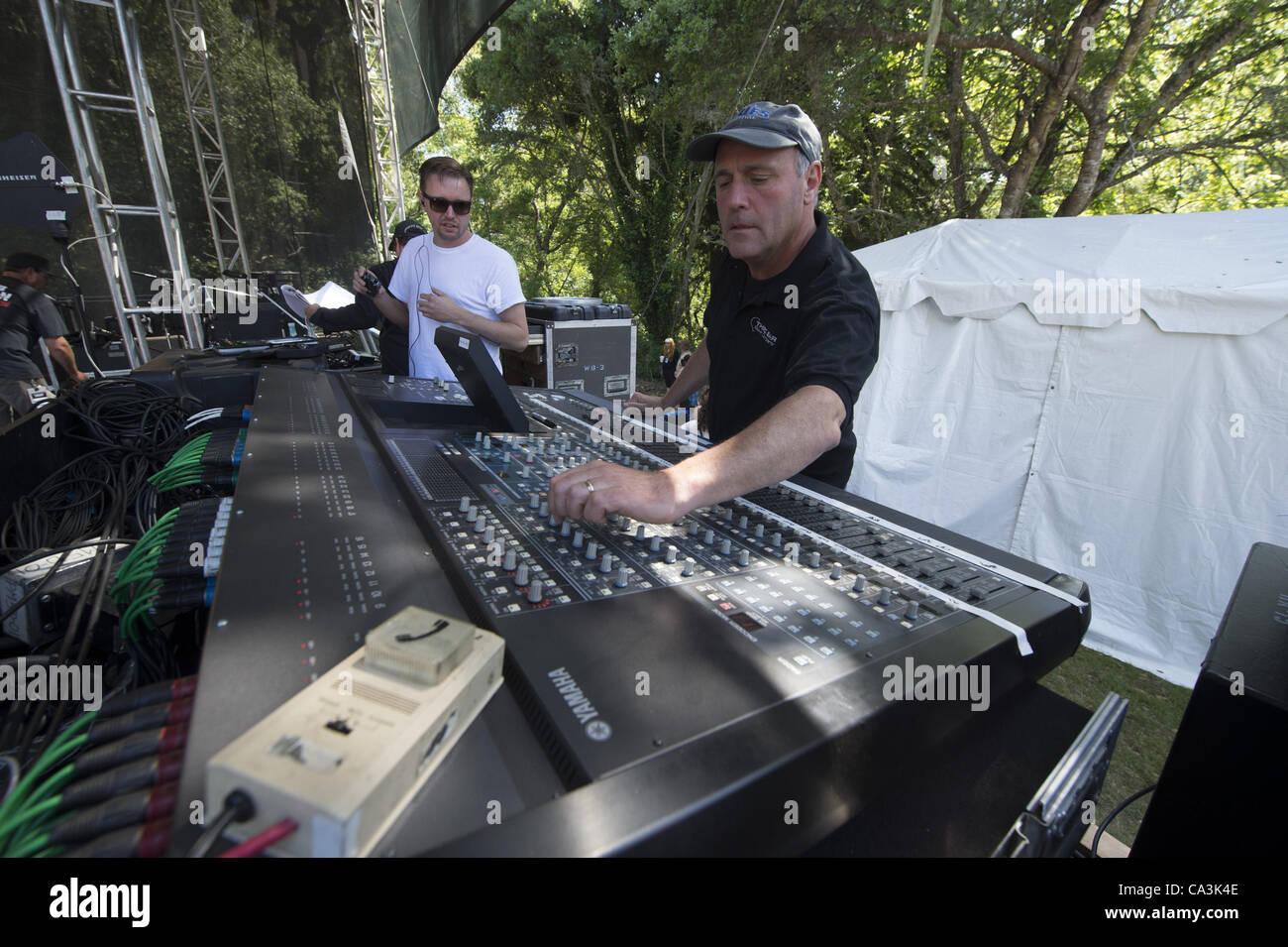 May 27, 2012 - Aptos, CA, USA - Soundboard at the 20th annual Santa Cruz Blues Festival. (Credit Image: © Jerome - Stock Image