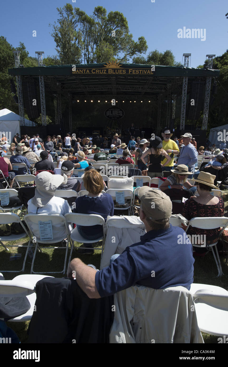 May 27, 2012 - Aptos, CA, USA - Fans and stage at the 20th annual Santa Cruz Blues Festival. (Credit Image: © - Stock Image