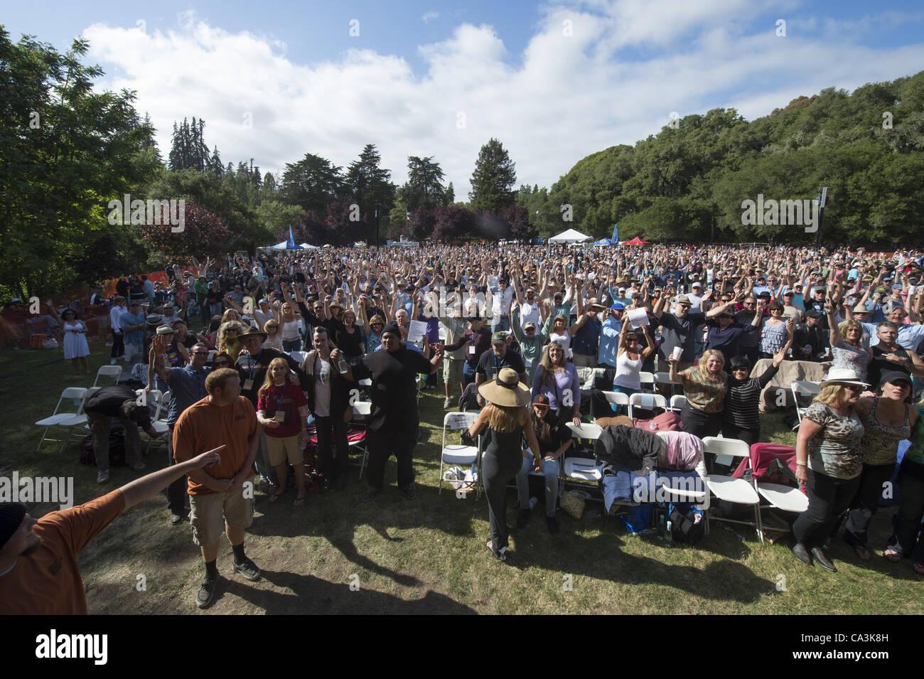 May 26, 2012 - Aptos, CA, USA - Crowd at the 20th annual Santa Cruz Blues Festival. (Credit Image: © Jerome - Stock Image