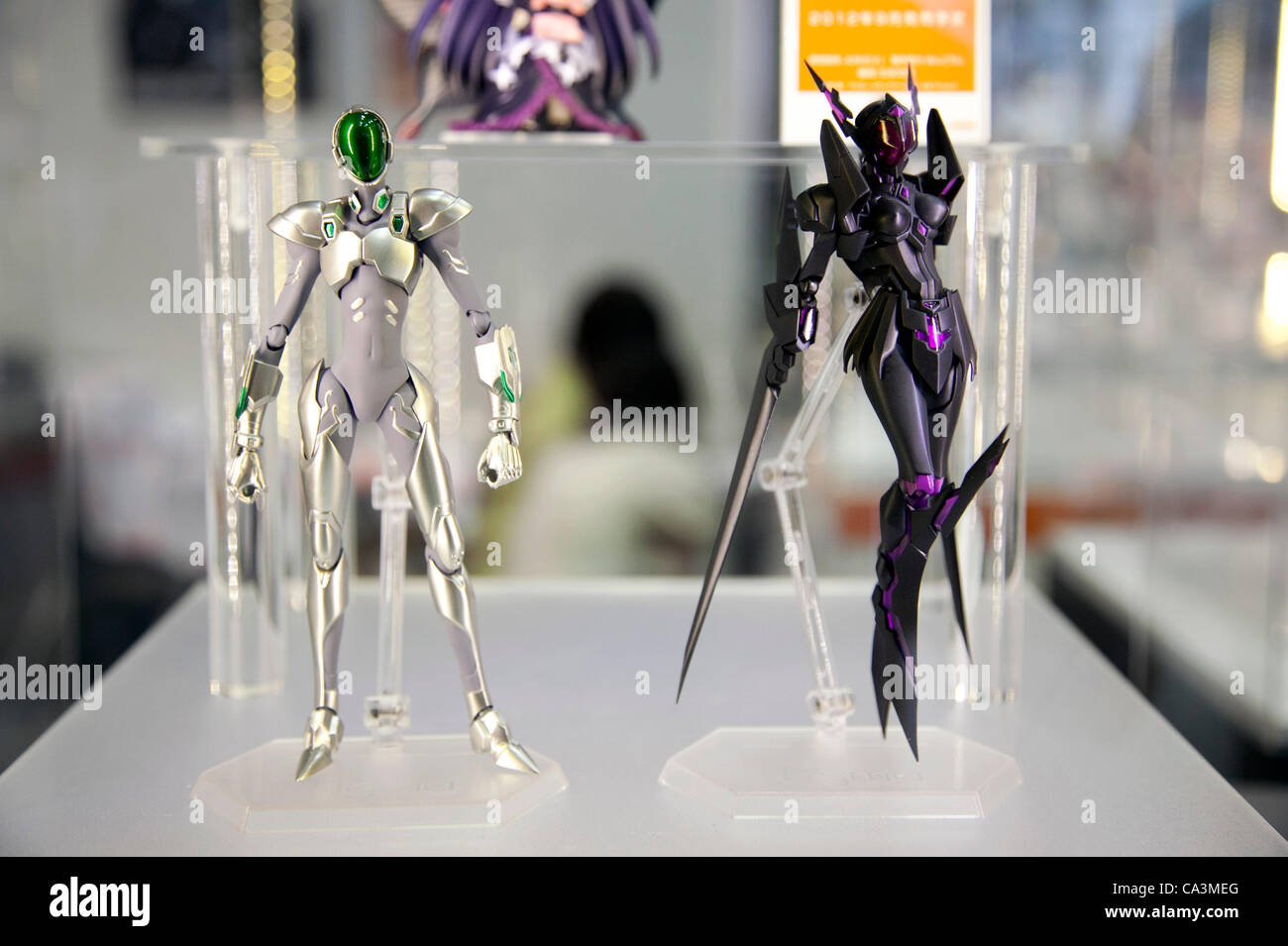 June 2 2012 Tokyo Japan Anime Toys Are Displayed For Showcase