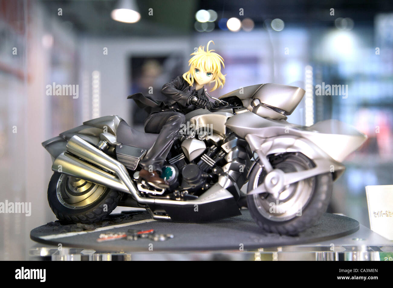 June 2 2012 Tokyo Japan Fate Zero Anime Toys Are Displayed For