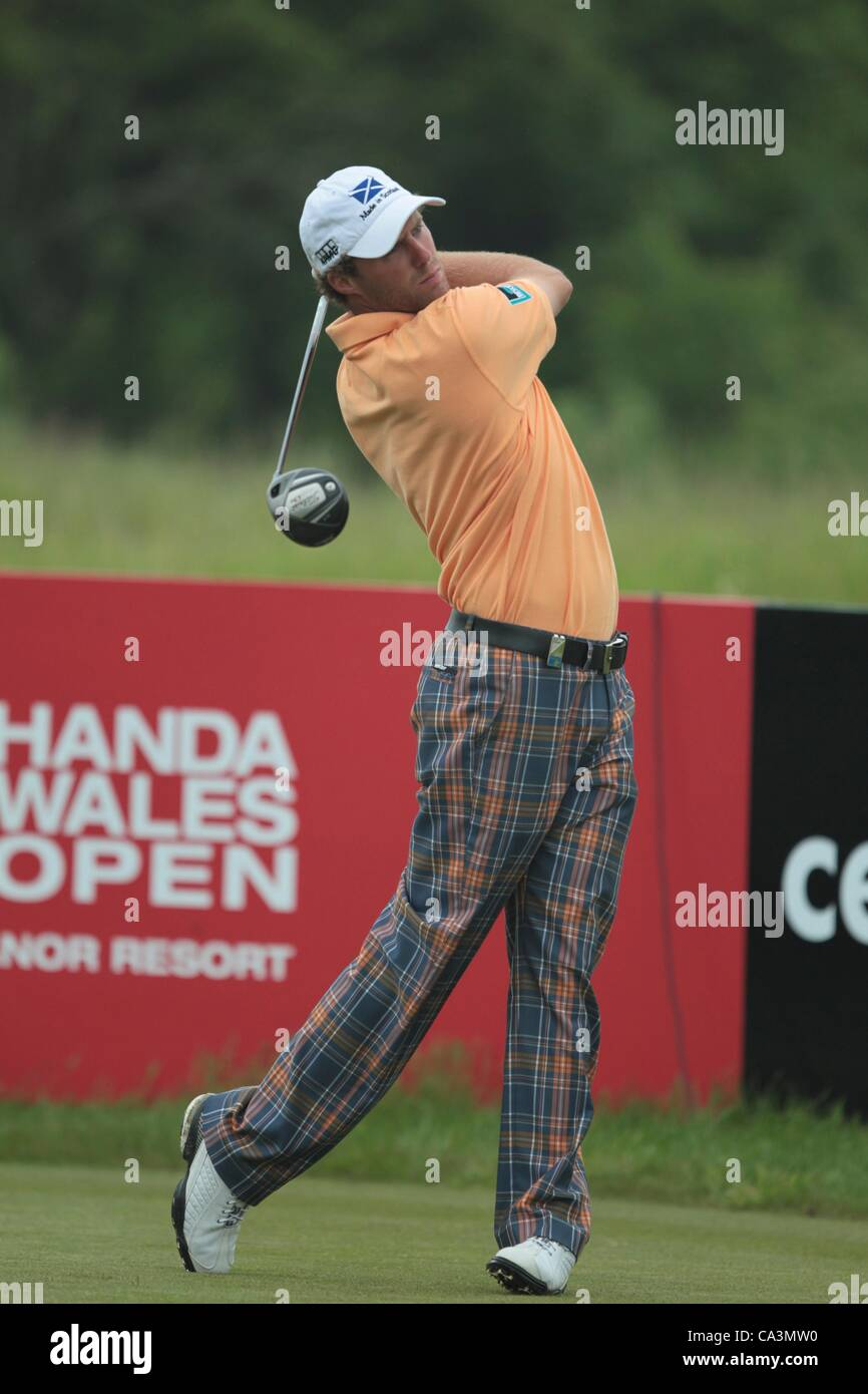 02.06.2012 Newport Wales. Reinier Saxton (NED) in action on Day 3 of the ISPS Handa Wales Open from Celtic Manor. - Stock Image