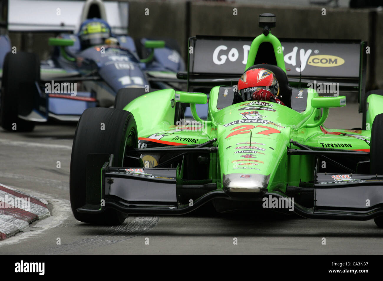 June 1, 2012 - Detroit, Michigan, U S - IZOD Indycar Series