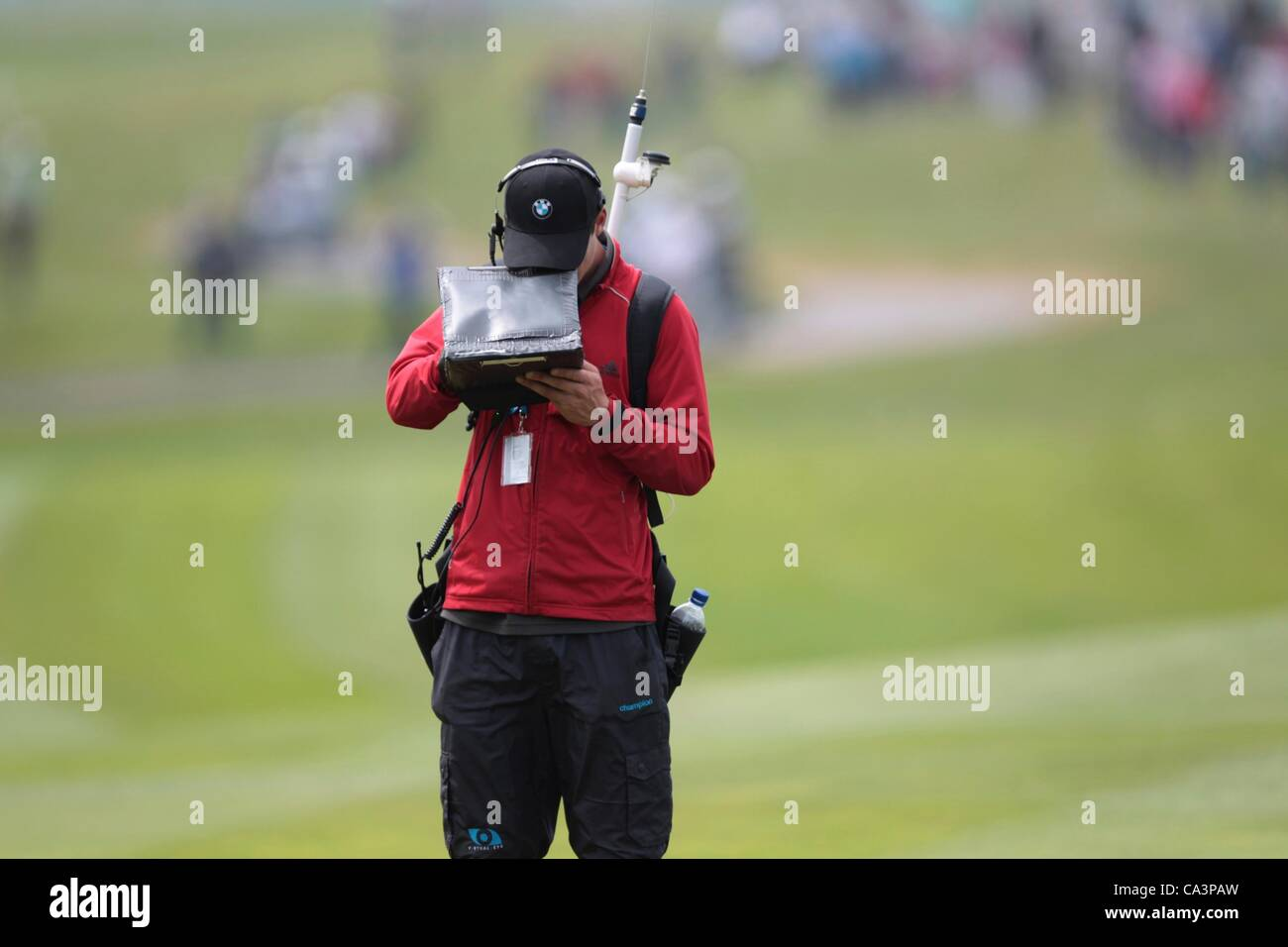 02.06.2012 Newport Wales. GPS locations recorded on Day 3 of the ISPS Handa Wales Open from Celtic Manor. - Stock Image