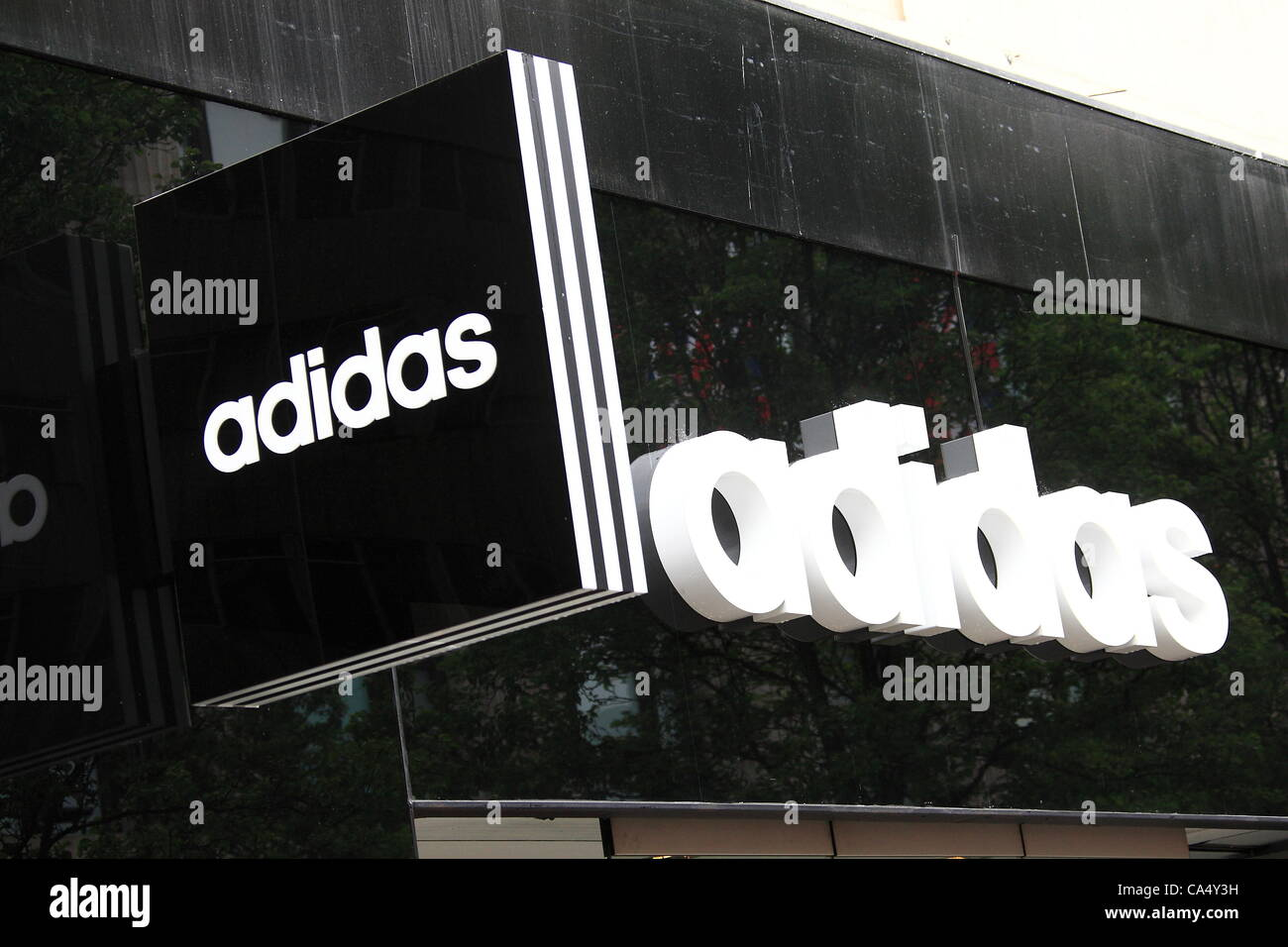 Friday 8th June 2012 UK Feminista protest at Adidas store Oxford Street  London. The group a72ad09d7