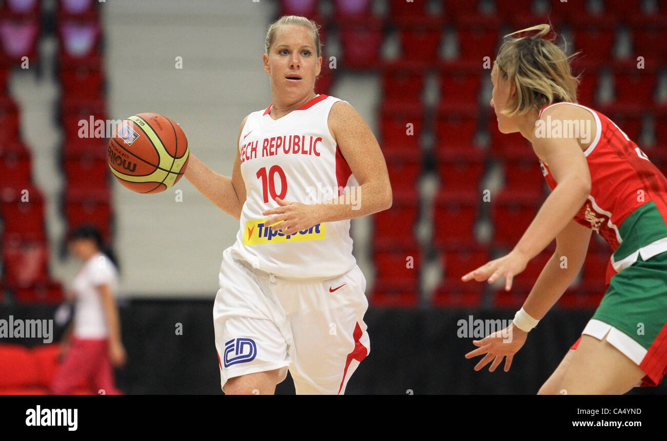 Training tournament, women basketball, Czech Republic vs Hungary, Karlovy Vary, Czech Republic, June 8, 2012. Michaela - Stock Image