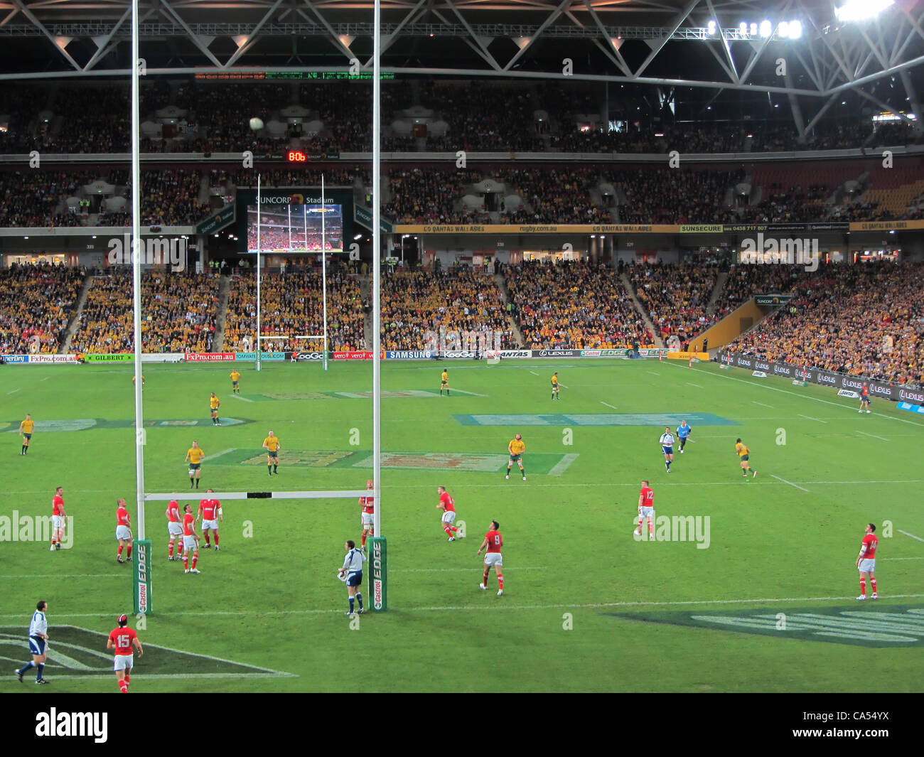 Australia vs Wales Brisbane 2012 Queensland Australia at the Suncorp Stadium Rugby Union - Stock Image