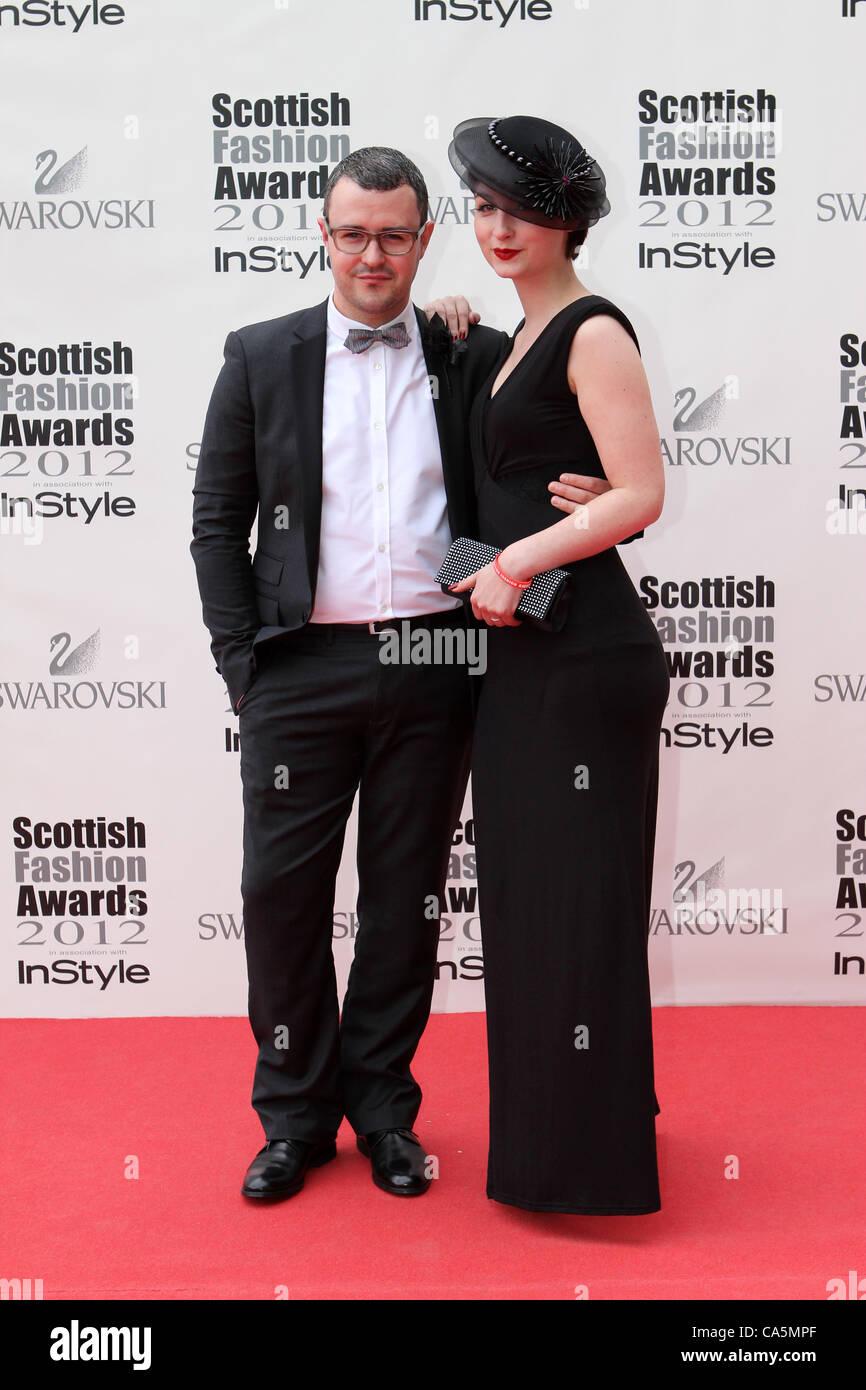 Scottish Fashion Awards 2012 William Chambers - Stock Image