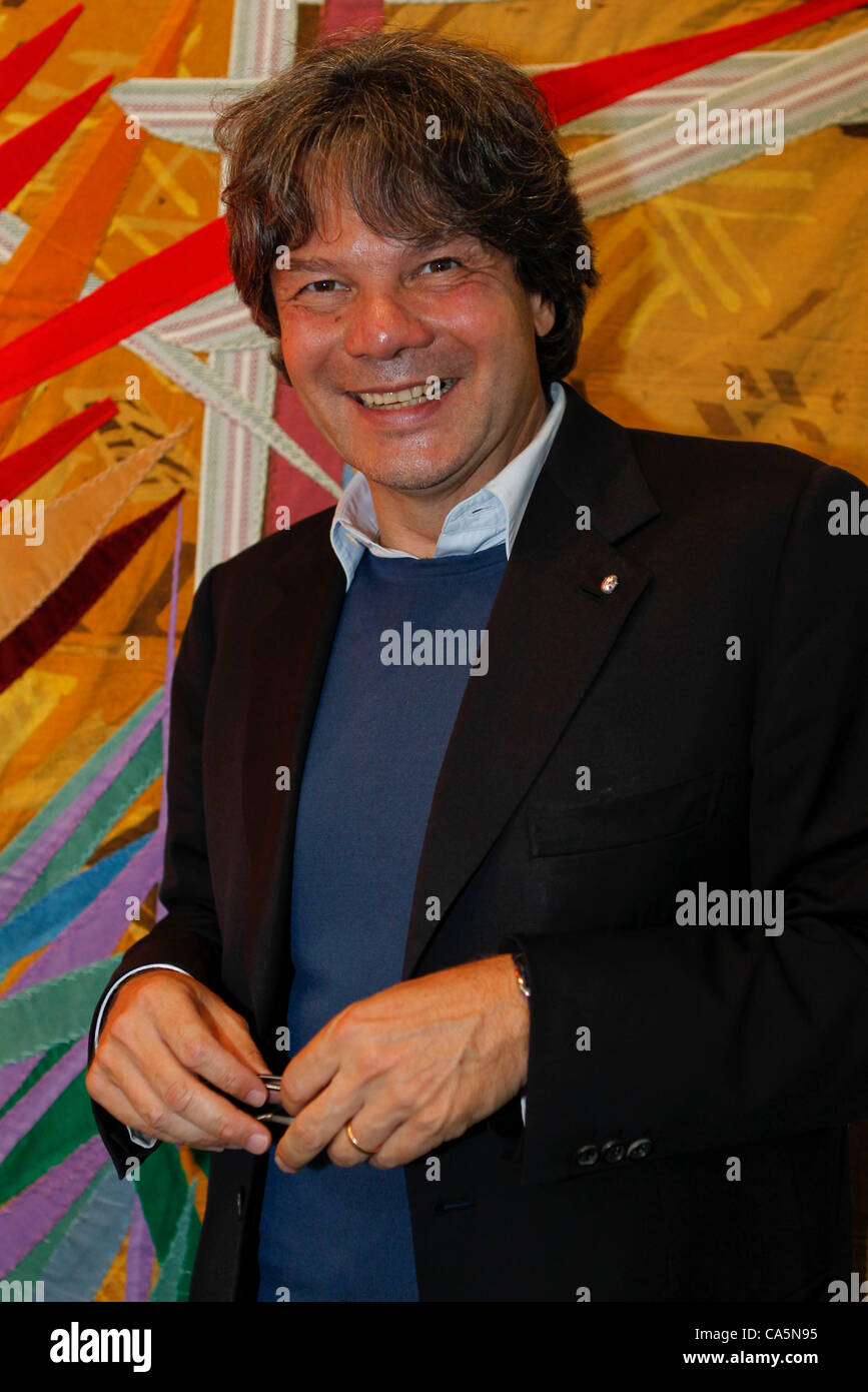 German Catering and Gourmet Star Michael Käfer at the 43. Art Basel VIP Viewing on Tuesday, 12.06.2012 / 43. - Stock Image