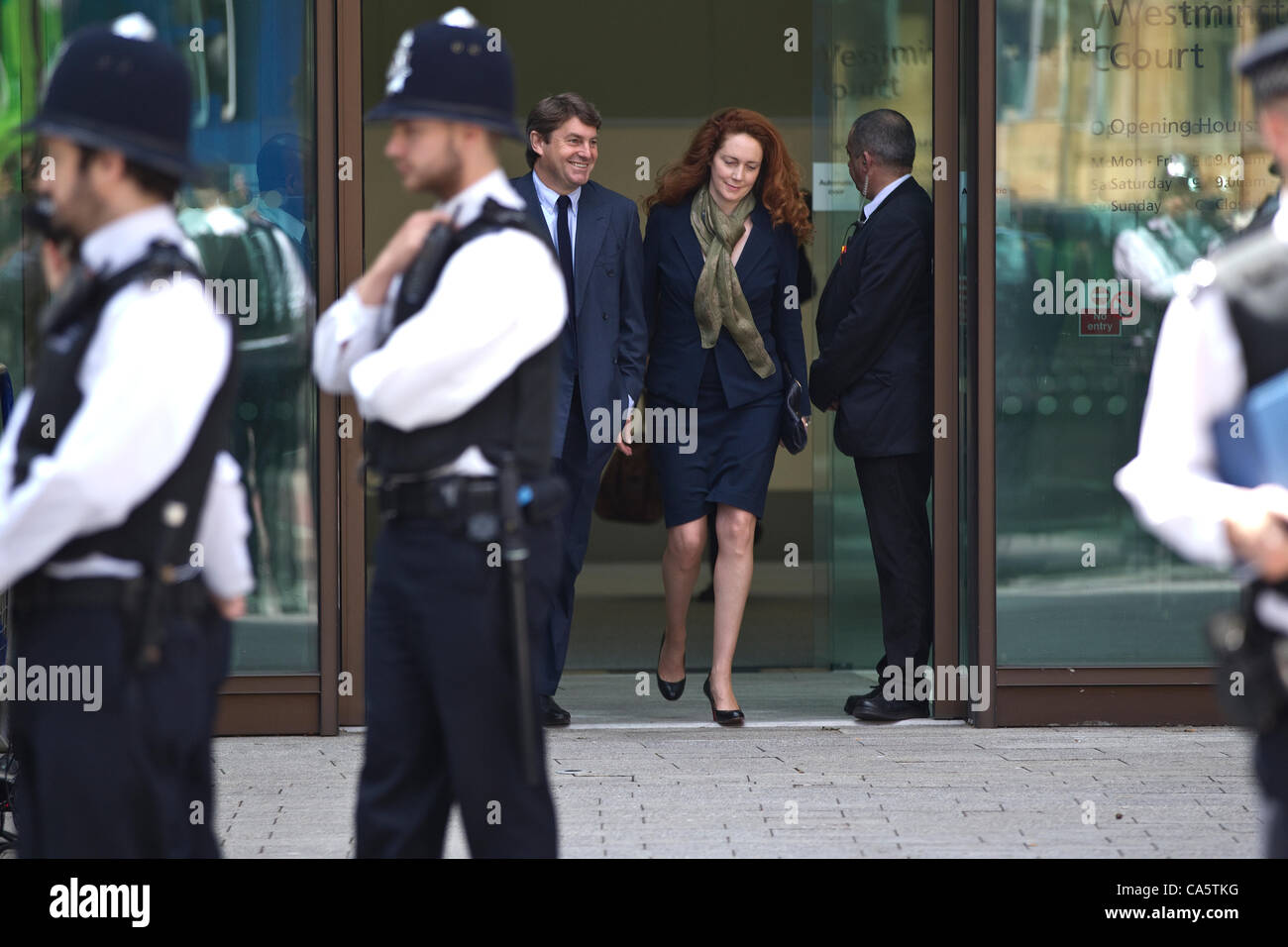 Westminster Magistrates, London, UK. 13.06.2012 Picture shows Rebekah Brooks 44-year-old former News of the World - Stock Image