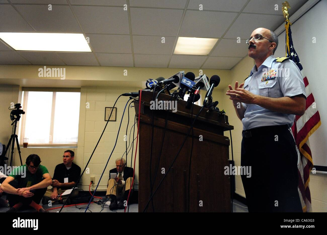 June 12, 2012 - Manhattan, New York, U.S. - Captain GREGORY HITCHEN, Deputy Commander of Coast Guard Sector New Stock Photo
