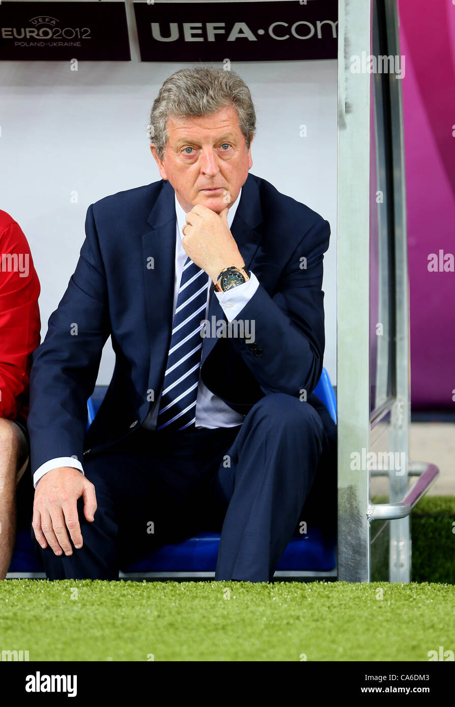 ROY HODGSON (COACH) BEFORE GAM SWEDEN V ENGLAND EURO 2012 OLYMPIC STADIUM KHARKIV UKRAINE UKRAINE 15 June 2012 - Stock Image