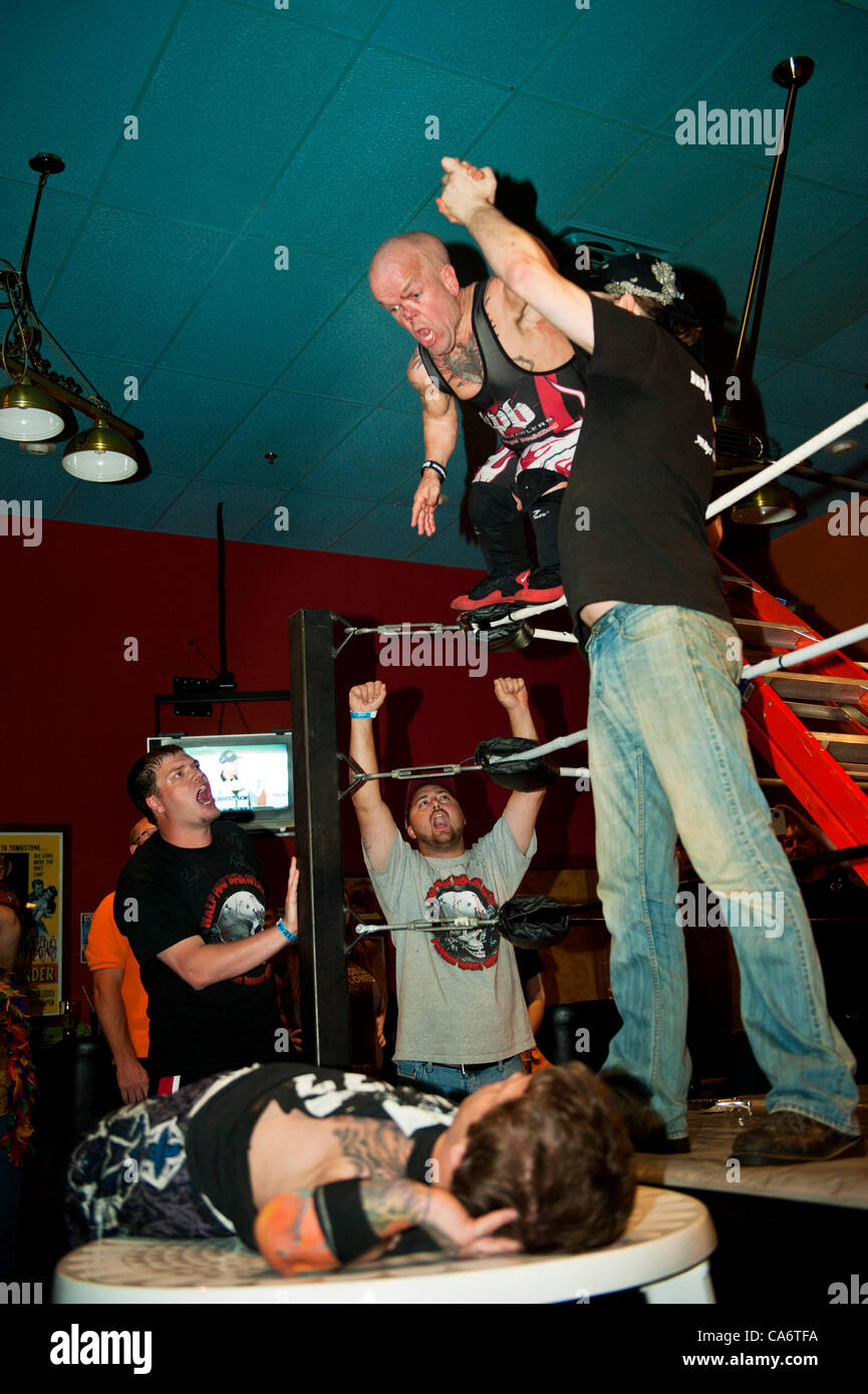 Manassas, Virginia, June 15, 2012 -The Half Pint Brawlers were in Northern Virginia for some great entertainment. - Stock Image