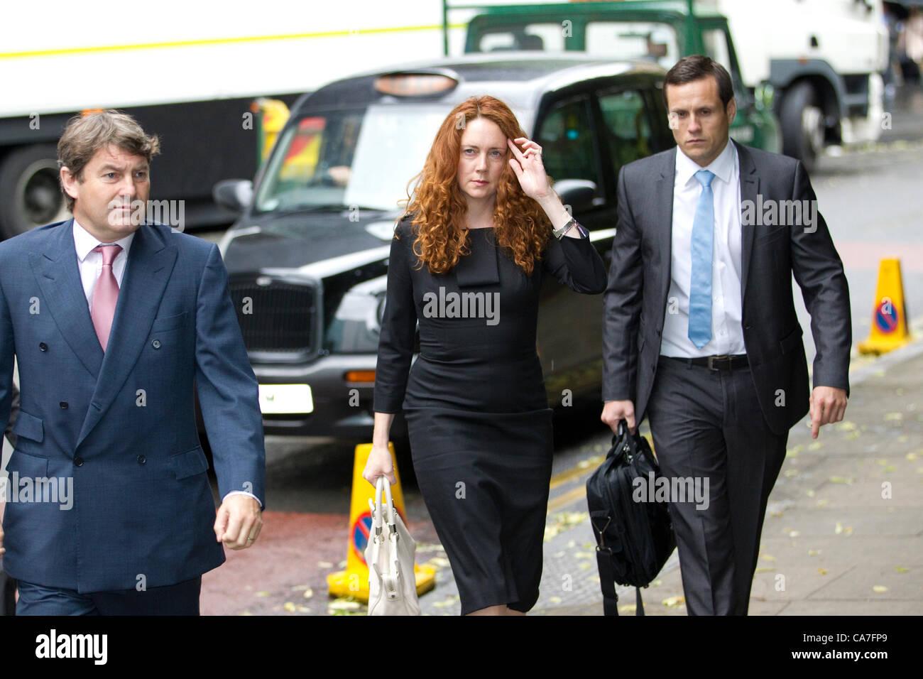 Southwark Crown Court, London, UK. 22.06.2012 Rebekah Brooks  with husband (left) Charlie arriving today at Southwark - Stock Image