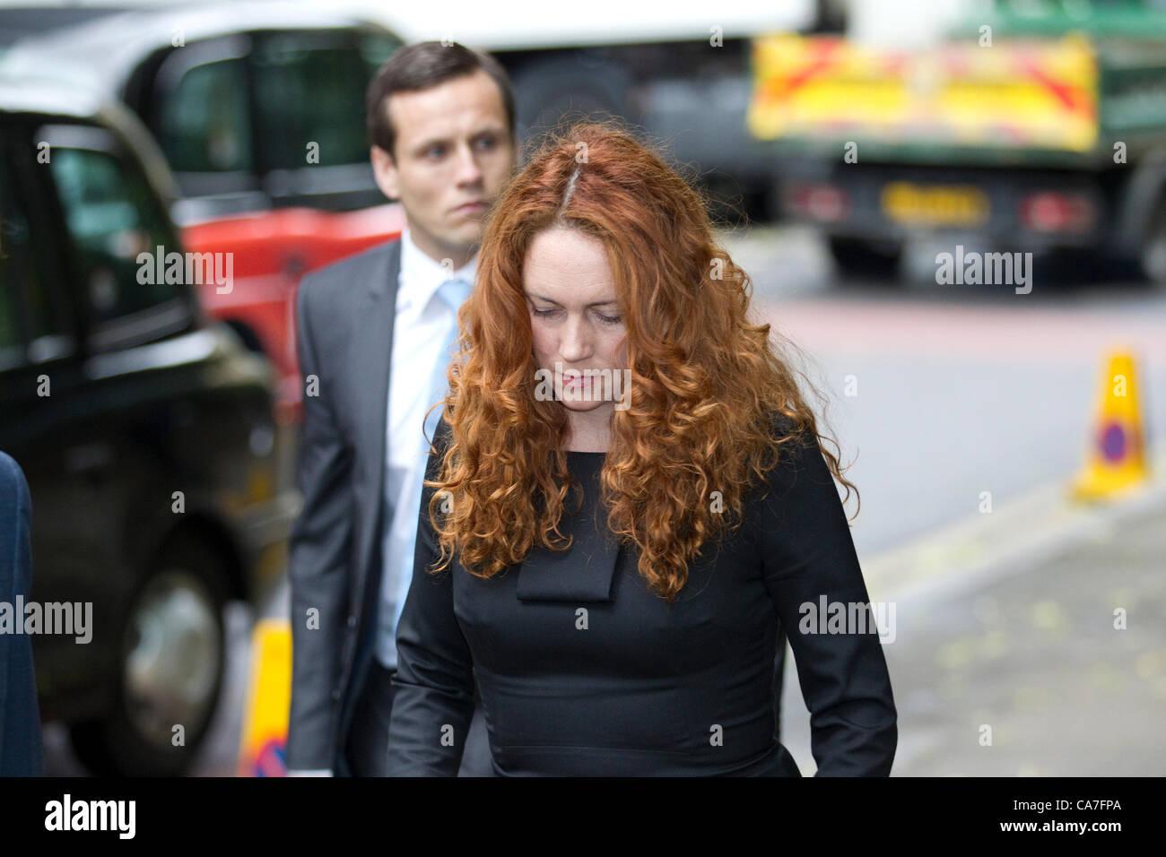 Southwark Crown Court, London, UK. 22.06.2012 Rebekah Brooks arriving today at Southwark Crown Court. The former - Stock Image