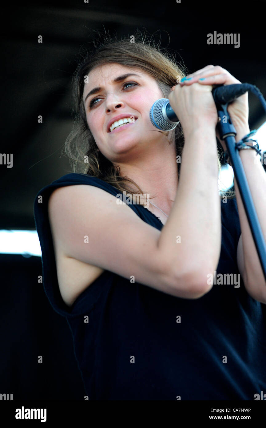 June 23, 2012 - Pomona, California, USA - Musician-EMILY ARMSTRONG. lead vocals and guitar for Dead Sara, performing - Stock Image