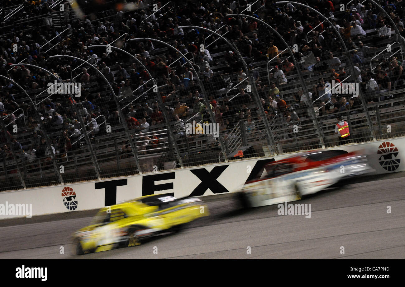 April 14, 2012 - Fort Worth, TX, USA - April 14, 2012 Ft. Worth, Tx. USA. NASCAR Sprint Cup Samsung 500 race at Stock Photo