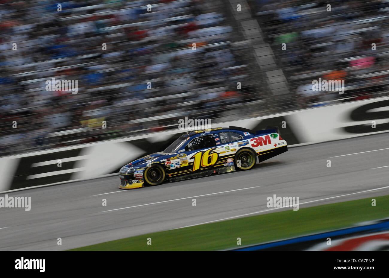 April 14, 2012 - Fort Worth, TX, USA - April 14, 2012 Ft. Worth, Tx. USA. Greg Biffle during the NASCAR Sprint Cup Stock Photo