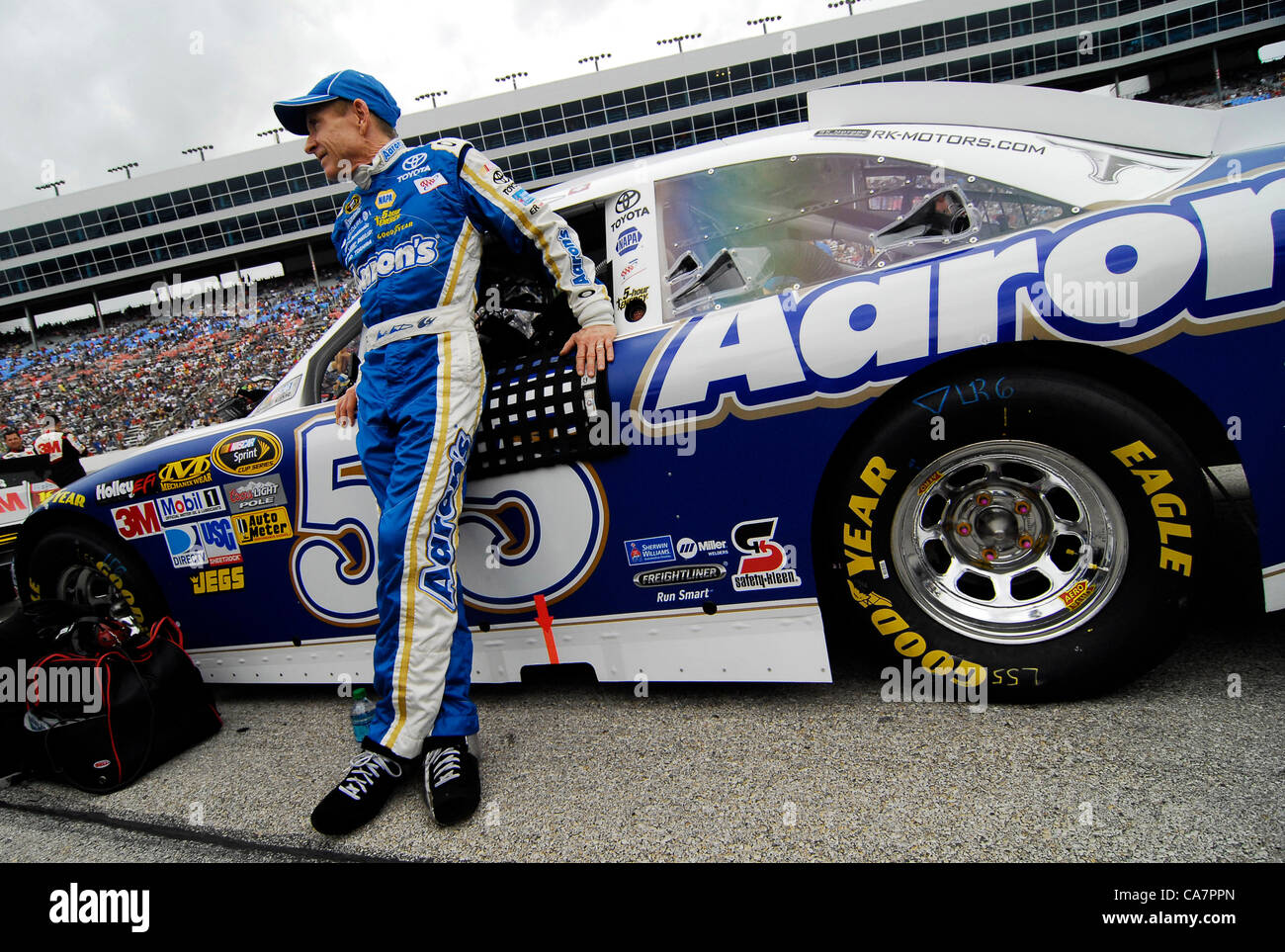 April 14, 2012 - Fort Worth, TX, USA - April 14, 2012 Ft. Worth, Tx. USA. MArk Martin before the NASCAR Sprint Cup Stock Photo