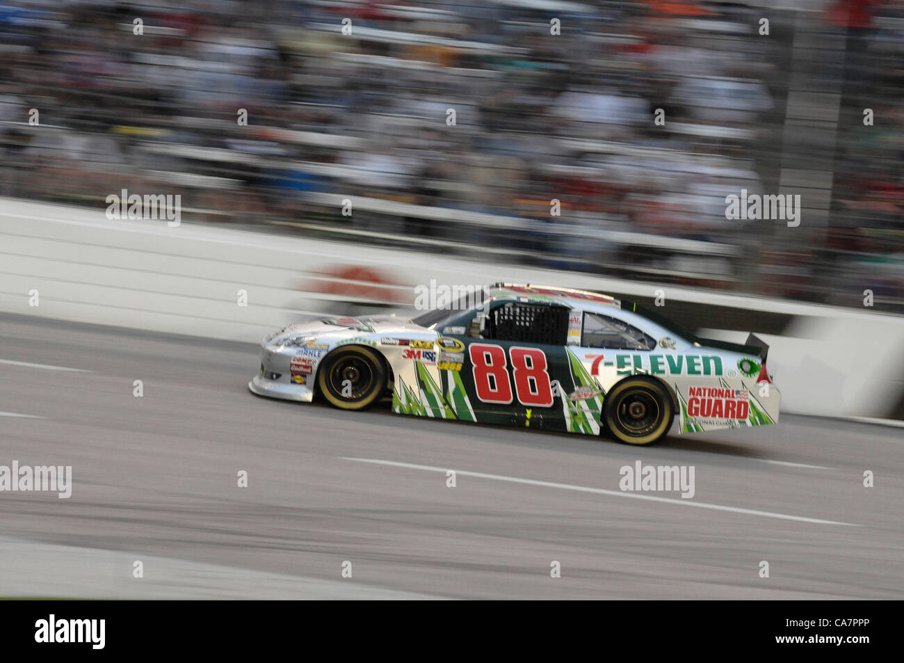 April 14, 2012 - Fort Worth, TX, USA - April 14, 2012 Ft. Worth, Tx. USA. Dale Earnhardt Jr. during the NASCAR Sprint Stock Photo