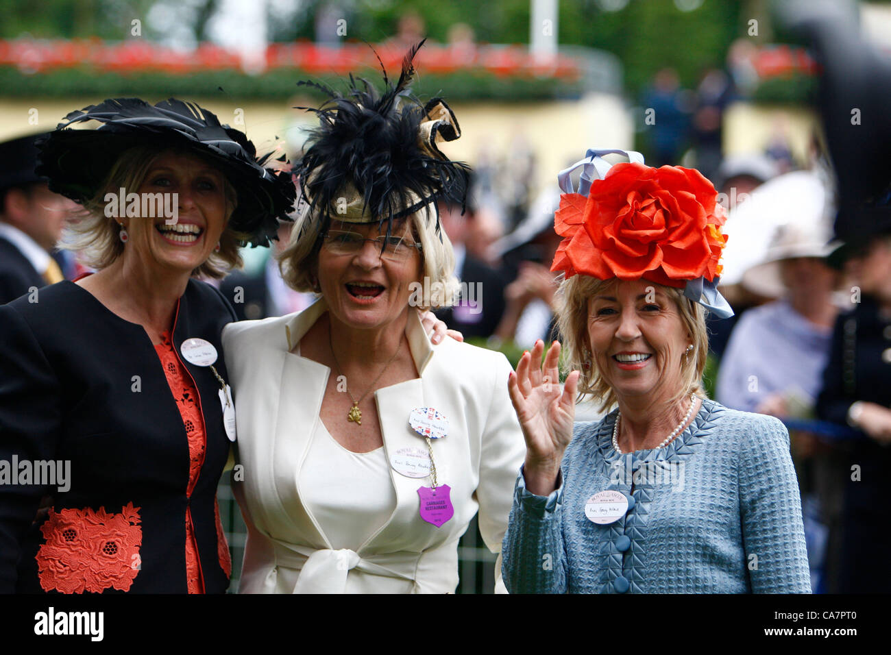 23.06.12 Ascot, Windsor, ENGLAND:  Three Owners of Black Caviar as their horse wins The Diamond Jubilee Stakes during - Stock Image