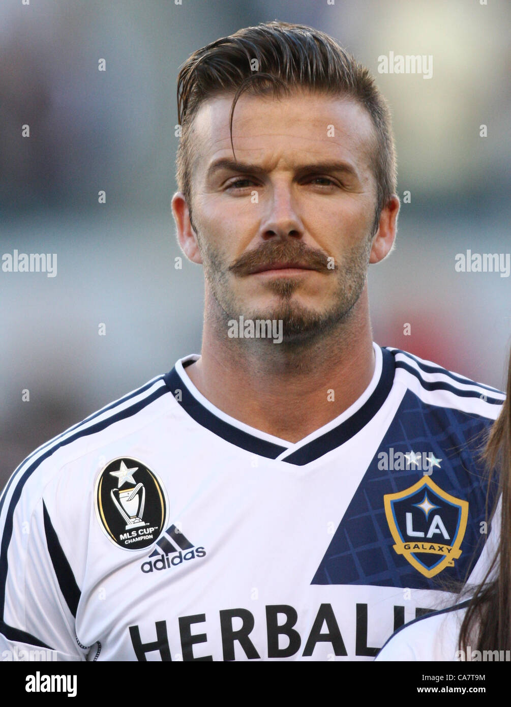 bb110232f DAVID BECKHAM CELEBS AT LA GALAXY V VANCOUVER MLS CARSON LOS ANGELES  CALIFORNIA USA 23 June 2012