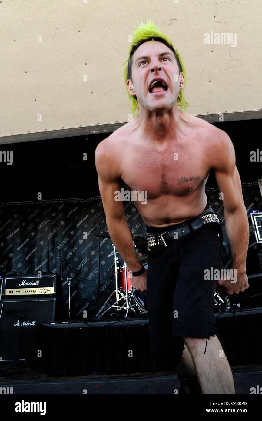 June 23, 2012 - Pomona, California, USA - Musician-MATT TOKA, performing live at the Van's Warped Tour 2012, - Stock Image