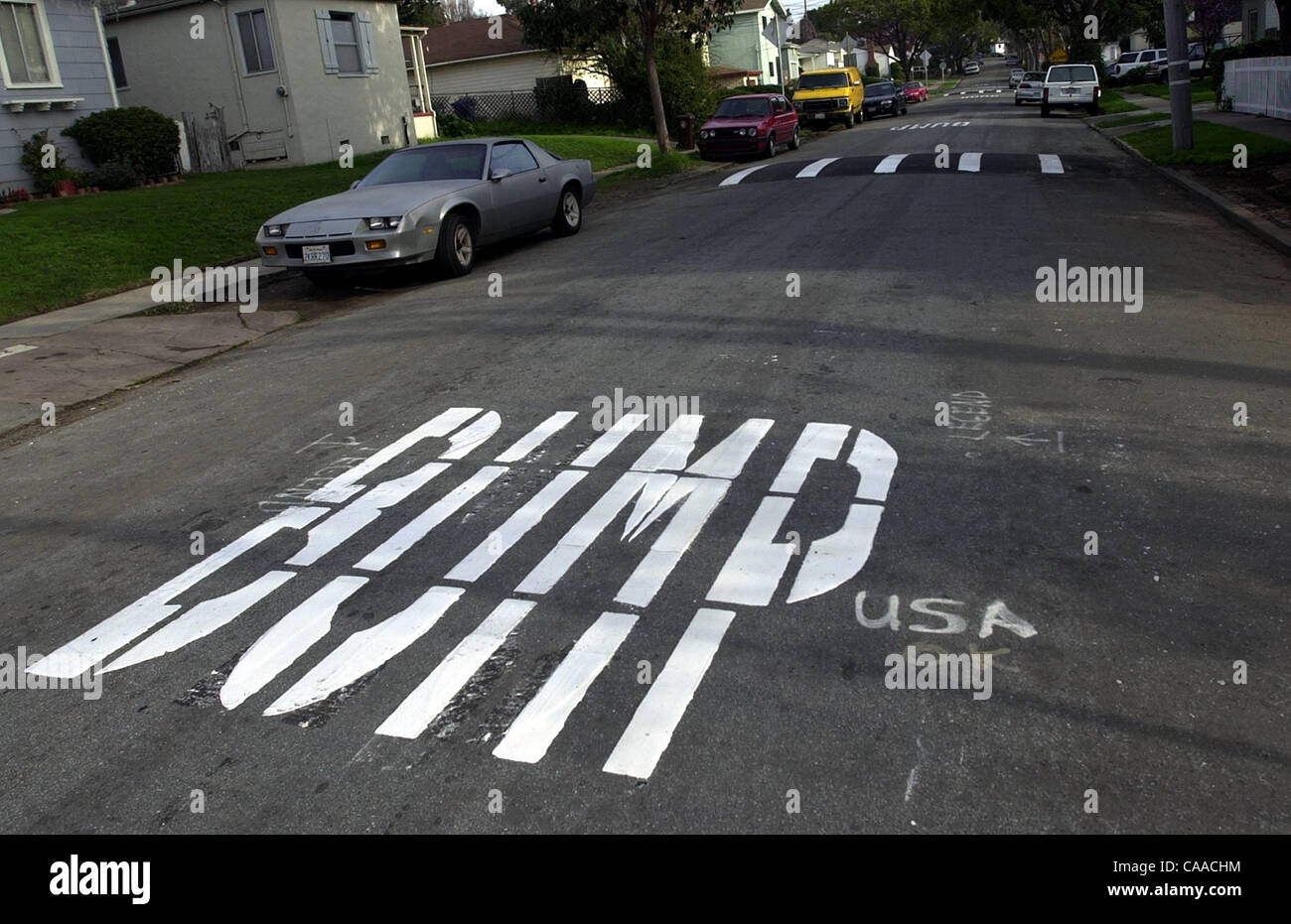 Work Crews With Asphalt Stripping Inc Fixed A Misspelling BMUP While Working On Laying Down The Word For New Speed Bumps Mariposa Street And