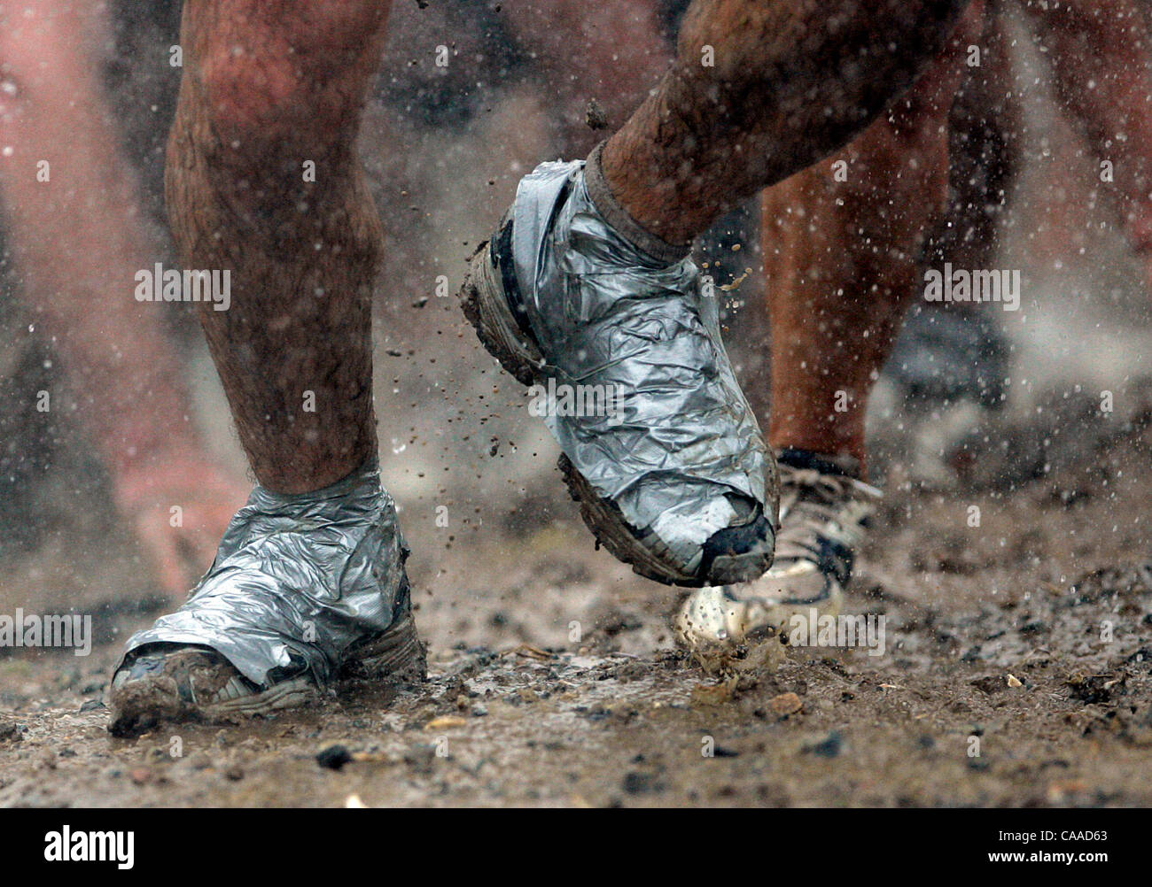Duct Tape Shoes For Mud Run