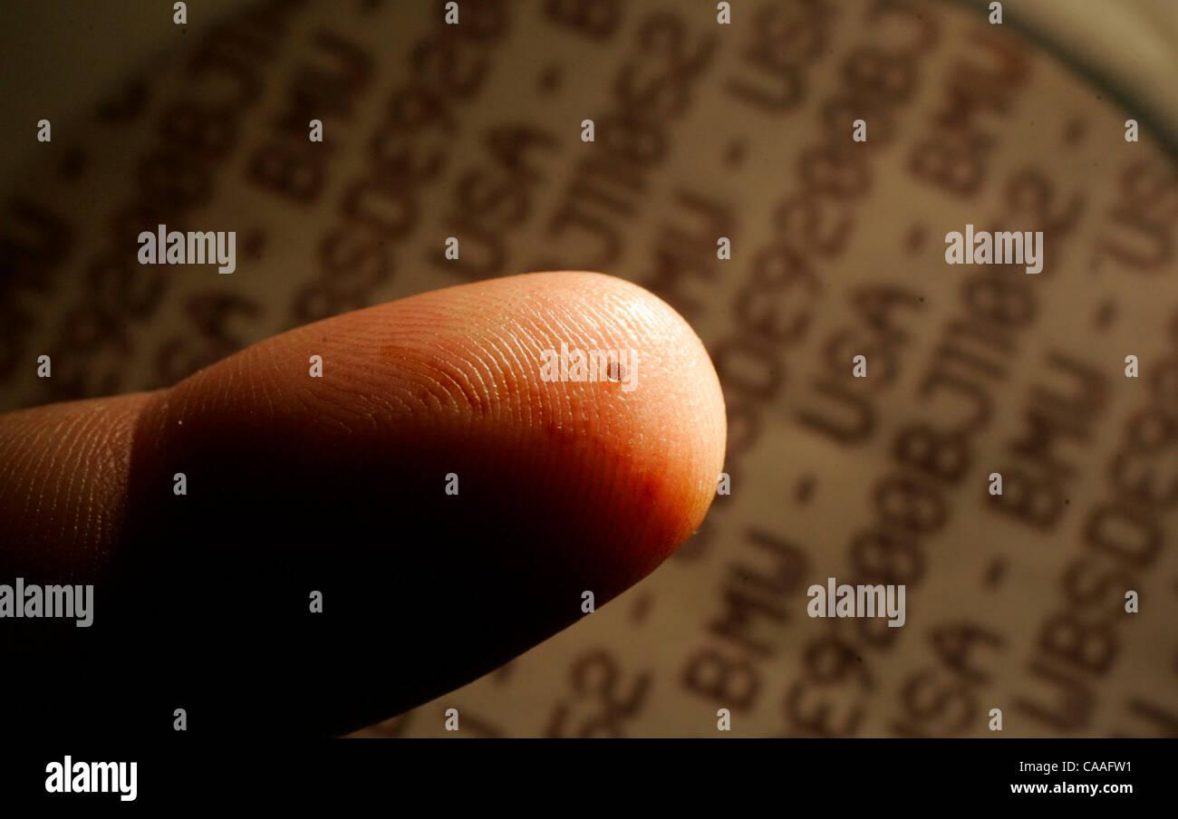 The Data Dot sits atop Capt  Robert McManus' (cq) finger