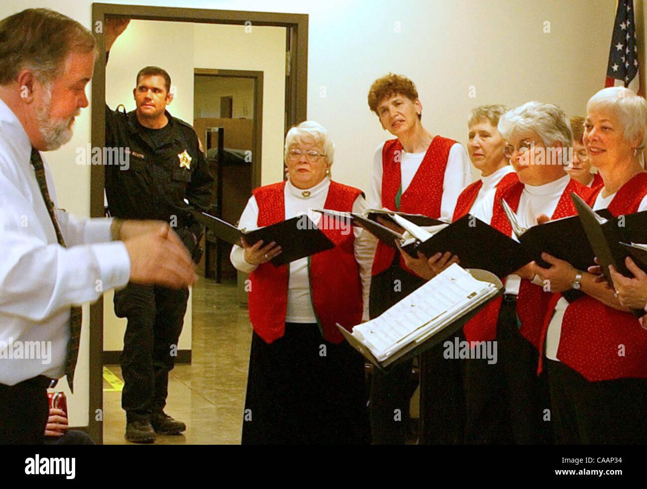 Dec 20, 2003 - Burlington, Kentucky, USA - A Jail Guard stands in a
