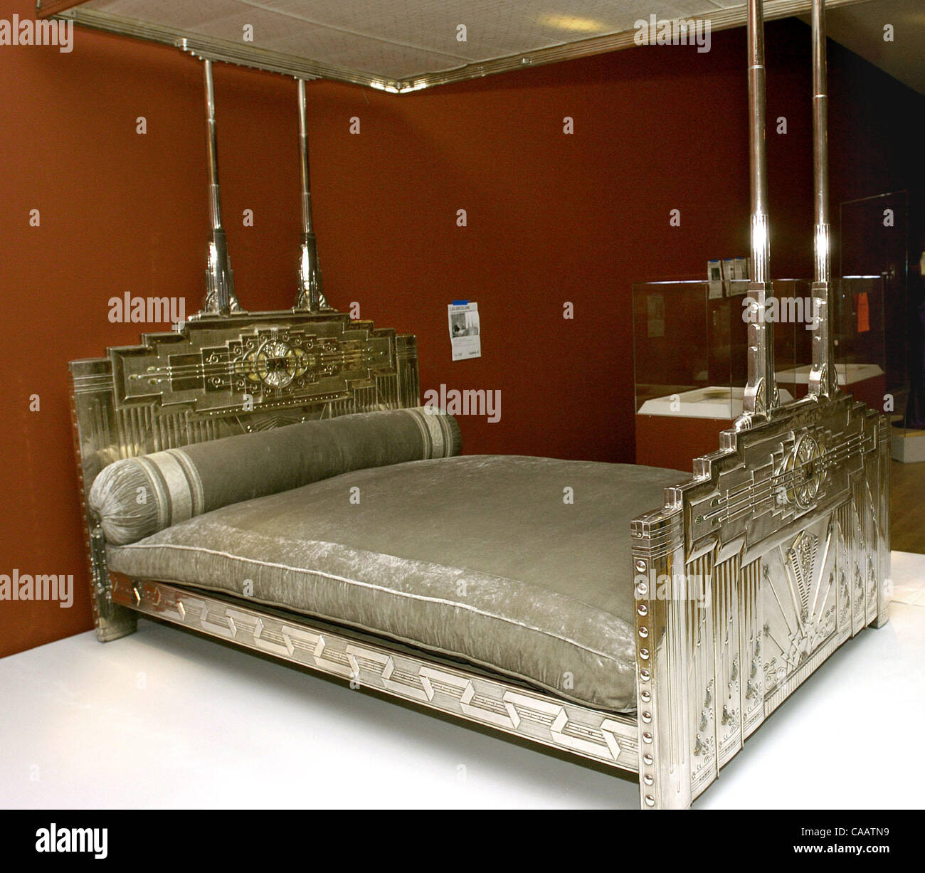 A Beautifull Silver Art Deco Bed From A Maharaja S Palace Which Will