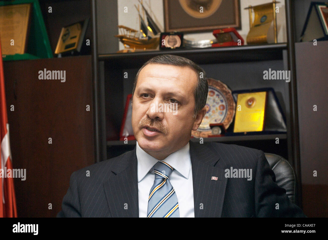turkey home office. nov 25, 2003; istanbul, turkey; recep tayyip erdogan, prime minister of turkey, in an interview his home / office days after the turkey 4